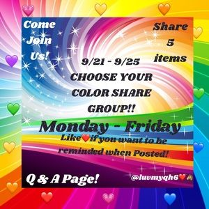 💜 Q&A Color Share Group 💙